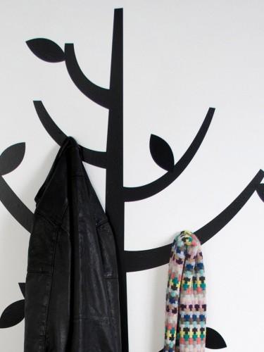 Naklejka wieszak na ubrania drzewo Home ubrania