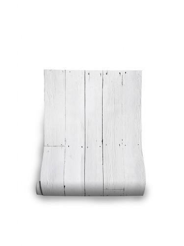 Mineheart – Białe deski – Tapeta ścienna