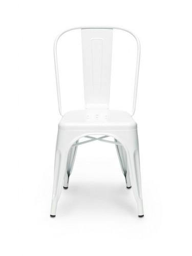 """Tolix - Kultowe krzesło """"A"""" - Białe"""