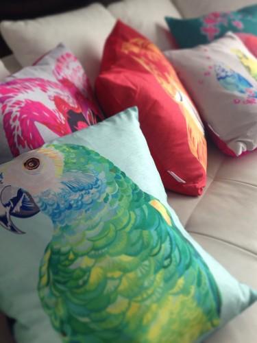 Poduszka z motywem zwierzęcym – Papuga