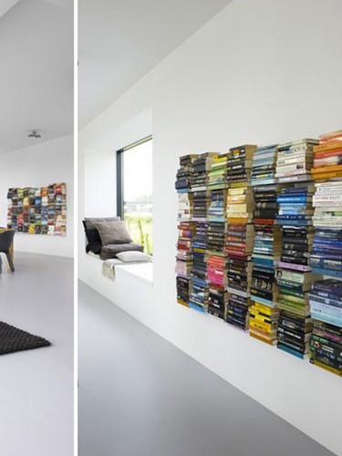 Self Shelf - Ciekawa półka na książki - Żółta