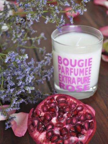 Świeczki o zapachu kwiatowym - dzika róża