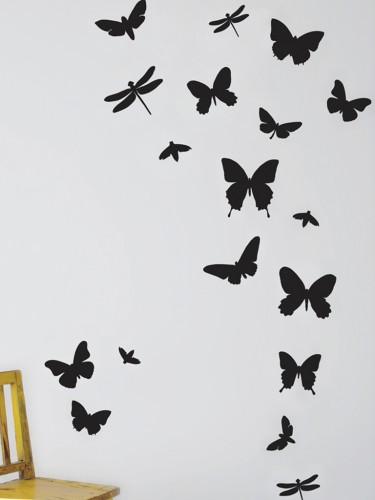 Naklejka na ścianę - Czarne Motyle