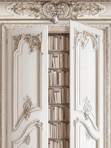Koziel - Tapety ścienne - Imitacja biblioteczki