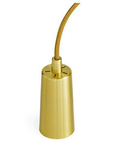 Złota oprawa z kablem do żarówki Plumen