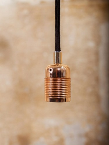 Frama - miedziane zawieszenie w stylu retro z kablem 3m