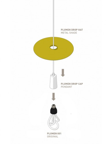 Lampa Plumen - Drop Hat Black