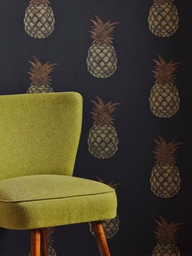 Stylowe tapety ścienne Barneby Gates - Pineapple