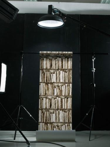 Tapeta ścienna - Biblioteczka sepia