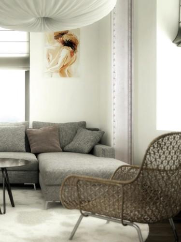 Tapeta stalowa biała - Christophe Koziel