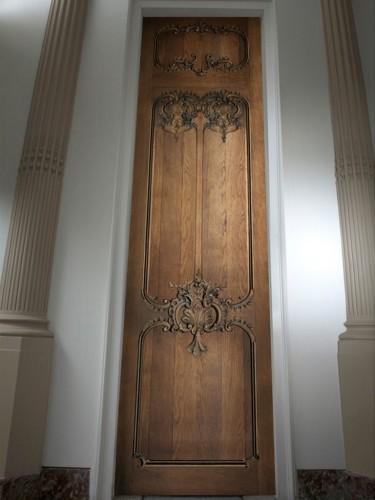 Tapeta stare dębowe drzwi - Louis XV