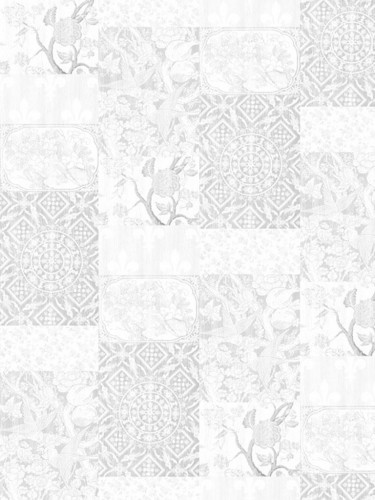 Tapeta Arts & Crafts Patchwork - Almost White