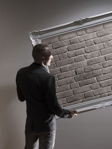 Koziel - Tapeta ścienna - Szare cegły 10m