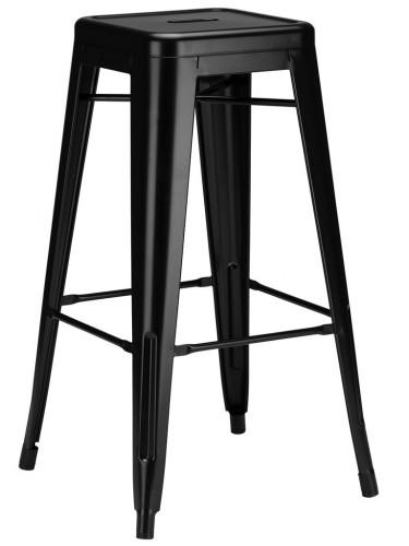 Tolix - Czarny stołek barowy H 65