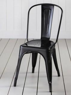Tolix - Xavier Pauchard - Czarne Krzesło A