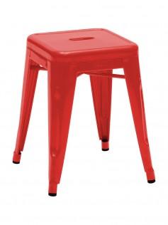 Tolix - Czerwony taboret - H 45 cm
