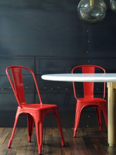 Tolix - Xavier Pauchard - Czerwone Krzesło A