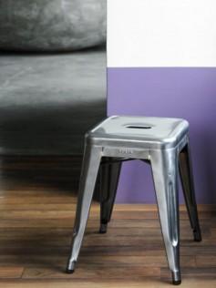 Tolix - Metalowy stołek - H 45 cm