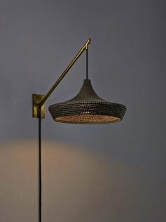 Naomi Paul - Lampa z bawełny i jedwabiu - Cave
