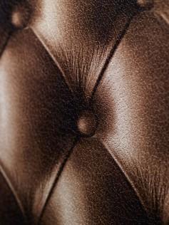 Tapety Koziel - Brązowa pikowana skóra 10m