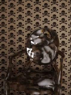 Skulls - Tapety z motywem czaszki - Brązowa 10m