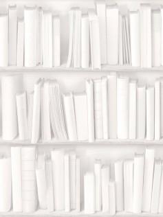 Koziel - Tapety ścienne - Biała biblioteczka