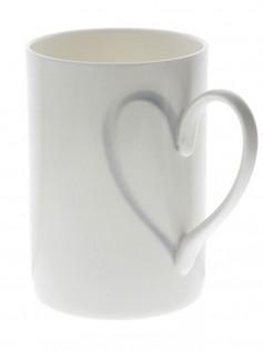 Kubek z uszkiem w kształcie serca