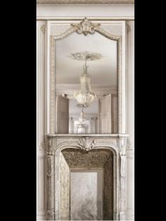 Dekoracja Fireplace & Mirror Perspective