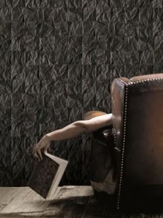 Christophe Koziel - Tapeta ścienna - Czarny, pognieciony papier 10m