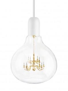 Lampa wisząca King Edison - biała