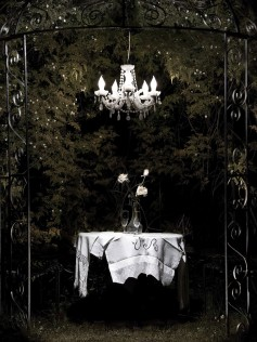 Mineheart - Wiszący żyrandol ogrodowy Ice Queen
