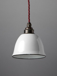 Designerski biały abażur - Nostalgia Lights Bell