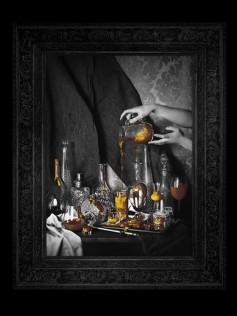 Nowoczesny obraz na płótnie - Minehart - Still Life Gold