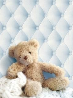 Niebieska tapeta - Tapicerowana ściana - Koziel