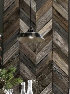 Tapeta Antique Wood Chevron