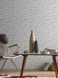 Koziel - Tapeta cegła - biała 10m