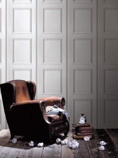 Tapeta ścienna do salonu - Białe panele - Koziel