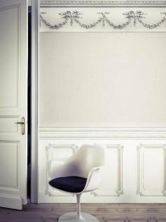 Biała tapeta - Haussmannian - Koziel