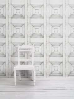 Tapeta Victorian Panelling - Almost White