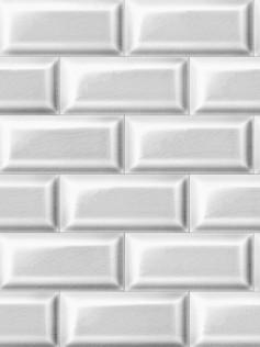 Tapeta ścienna w białe płytki - Christophe Koziel