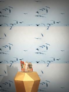 Tapeta Feathr - Portuguese Seagulls - Ice