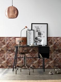 Tapeta w kafelki - Antique Copper Tin Tiles