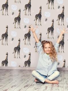 Tapeta do pokoju dziecka - Żyrafy