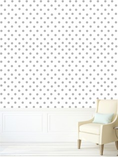 Tapeta w szare kropki polka dots
