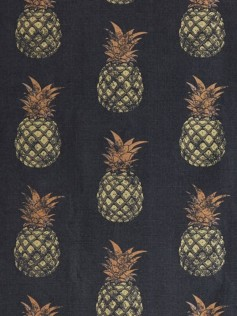 Tkanina Barneby Gates - Gold Pineapple