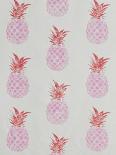 Tkanina Barneby Gates - Pink Pineapple